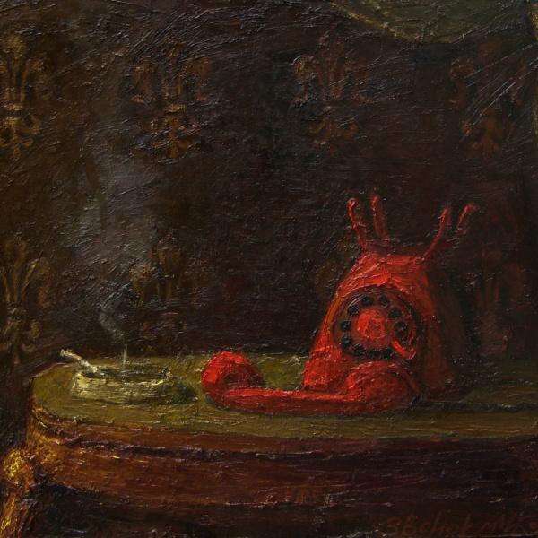 Звонок. 2004. х.м. 80х100