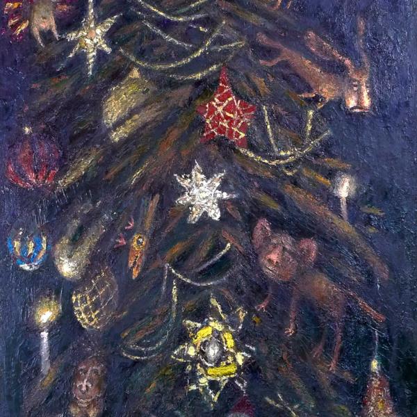 Елка. 2005. х.м. 180х80