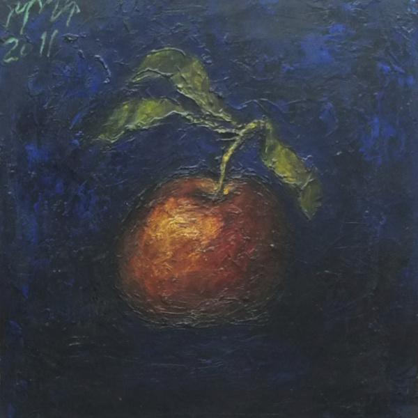 Яблоко красное. 40х40. 2011