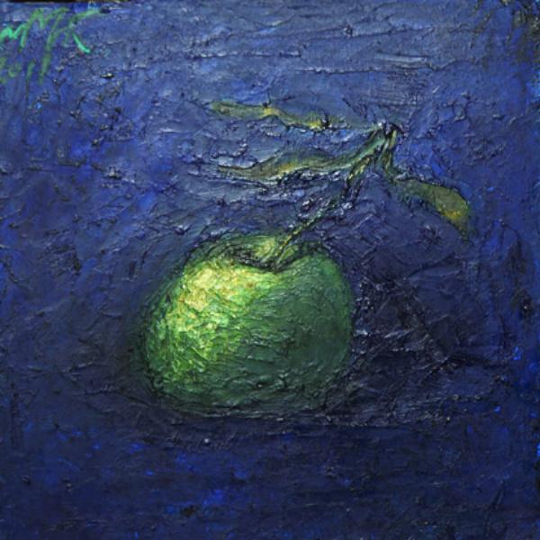 Яблоко зелёное. х.м. 30х40. 2011