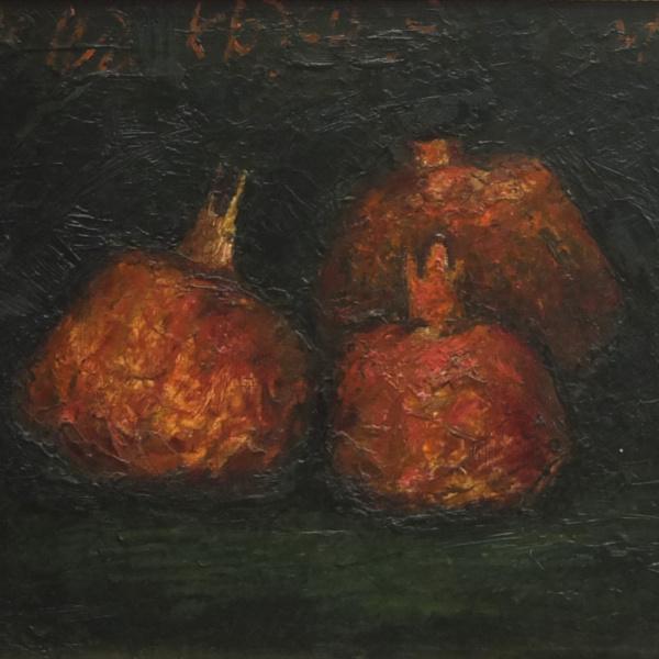 Три граната. х.м. 30х40. 2012