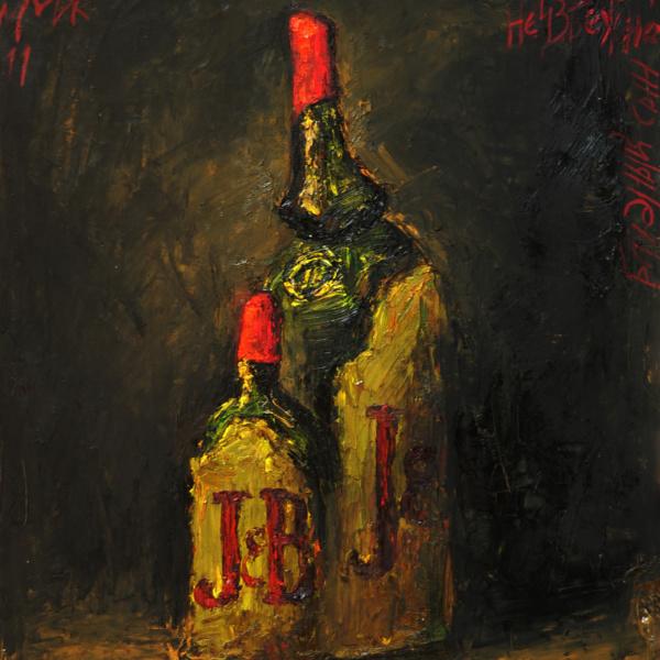 Блудный сын J&B (на тему Рембрандта). 50х40. 2011