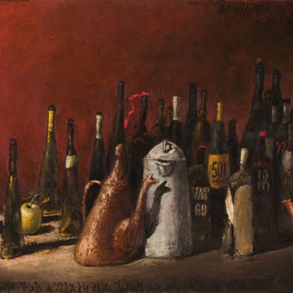 Ночной дозор (на тему Рембрандта). Последний вариант. 100х180. 2005