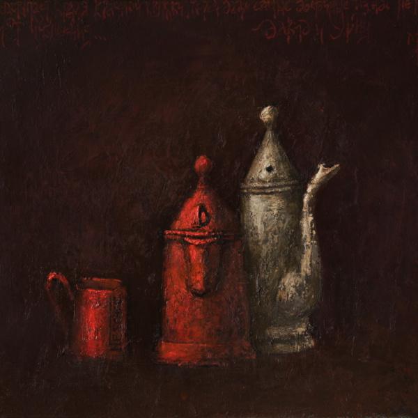 Давид и Урия (на тему Рембрандта). 70х125. 2005