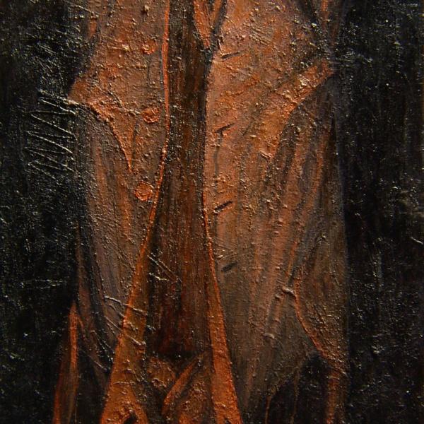 Красный плащ (на тему Сутина). 130х80. 1995