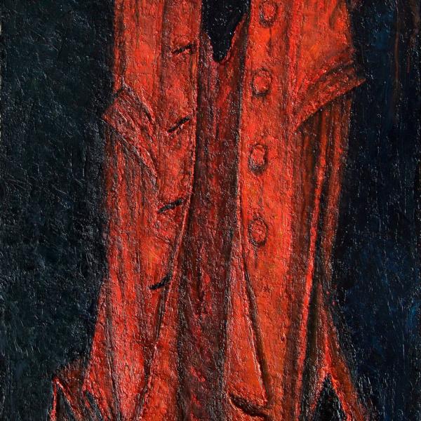 Красный плащ (на тему Сутина). 130х80. 2005