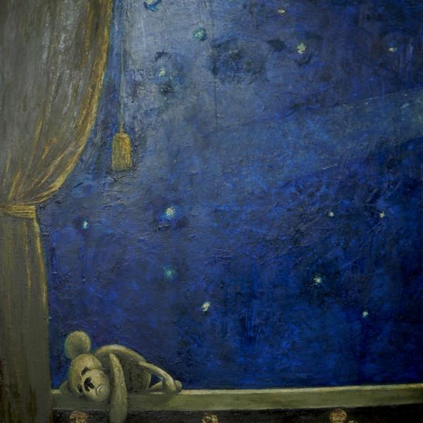 Комета 1 (диптих, левая часть). 2012. х.м. 110х100