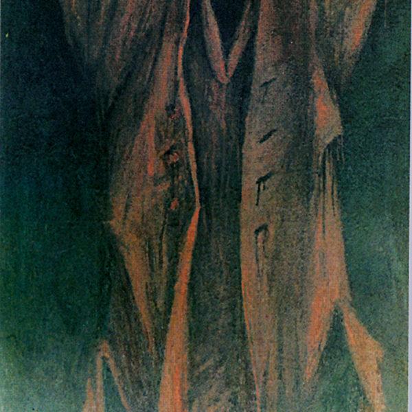 Красный плащ 1 (на тему Сутина). Х.,м. 115х80. 1989